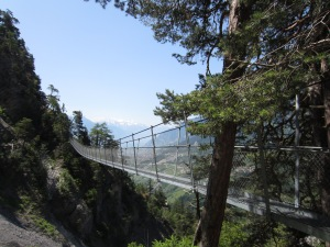 one of the suspension bridges