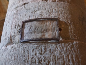 In the dungeons, look for where Lord Byron carved his name on a pillar