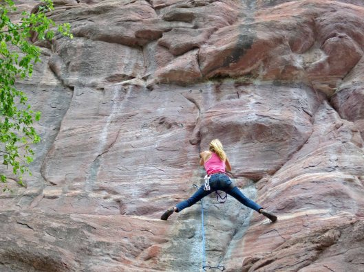 Balancing at Ouray, Colorado