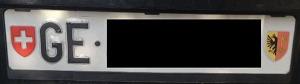 Geneva License Plate