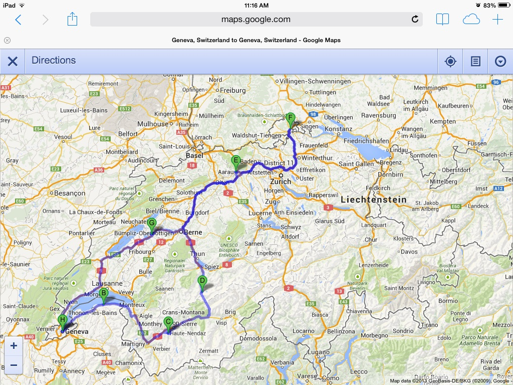 A four canton tour Valais Aargau Schaffhausen and Fribourg Part