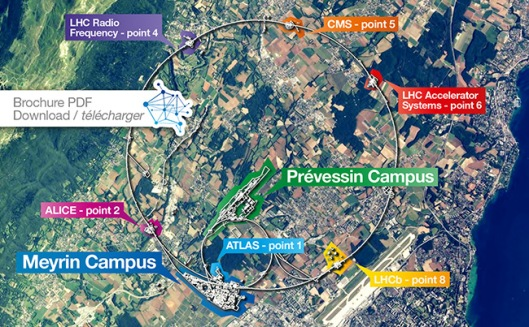 The CERN sites. Image credit: CERN