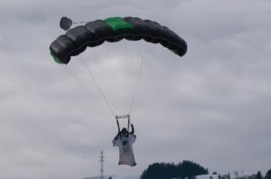 Wingsuit demonstration from the 2013 festival
