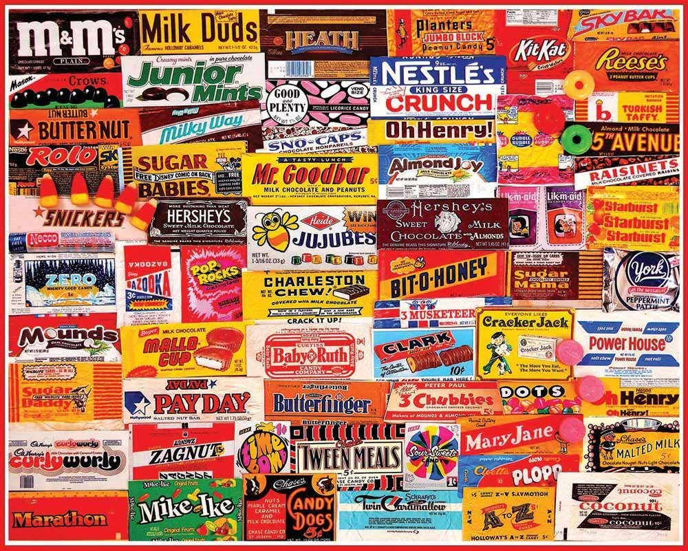 German Candy Brands Candy wrapper puzzle