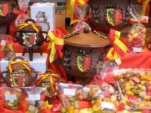 Marmite chocolate cauldrons ready for the Escalade celebration