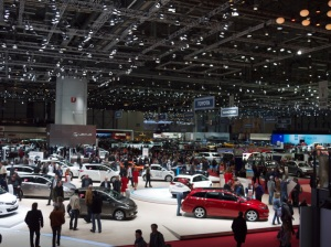 Main exhibit hall at the 2013 Geneva Auto Show