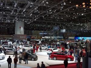 Main exhibit hall at the 2013 Geneva Auto Show
