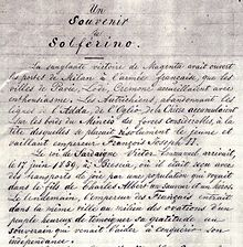 First page of Souvenir de Solferino