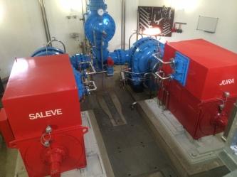 Two groups of pumps power the Jet d'Eau
