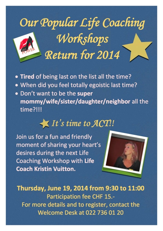 AIWC Life Coaching Workshop Flyer