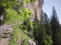 The route between Gasthaus Äscher and Seealpsee