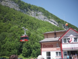 Ebenalp cable car station in Wasserauen