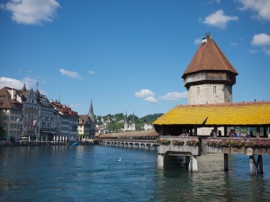 Lucerne's famous Chapel Bridge