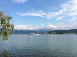 A steamboat on beautiful Lake Lucerne