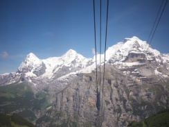 Views of Eiger, Mönch and Jungfrau from the Schilthorn cable car