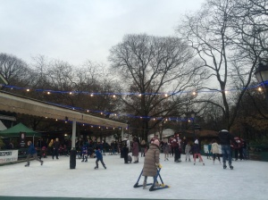 The seasonal outdoor rink at Parc des Bastions