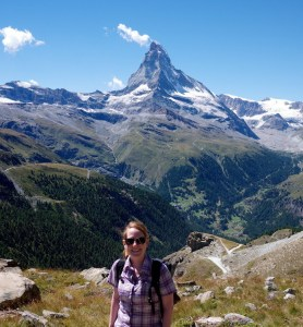 The author and her favorite summer activity: hiking in Zermatt