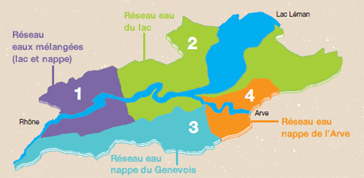 Map of Geneva's Water