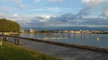 Early morning bike ride Geneva