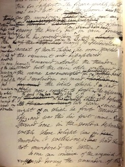 page from Mary's 1st (rough) draft with Percy's edits in the margins