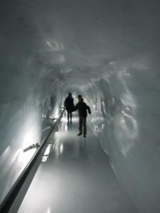 The Ice Park at the Jongfraujoch.
