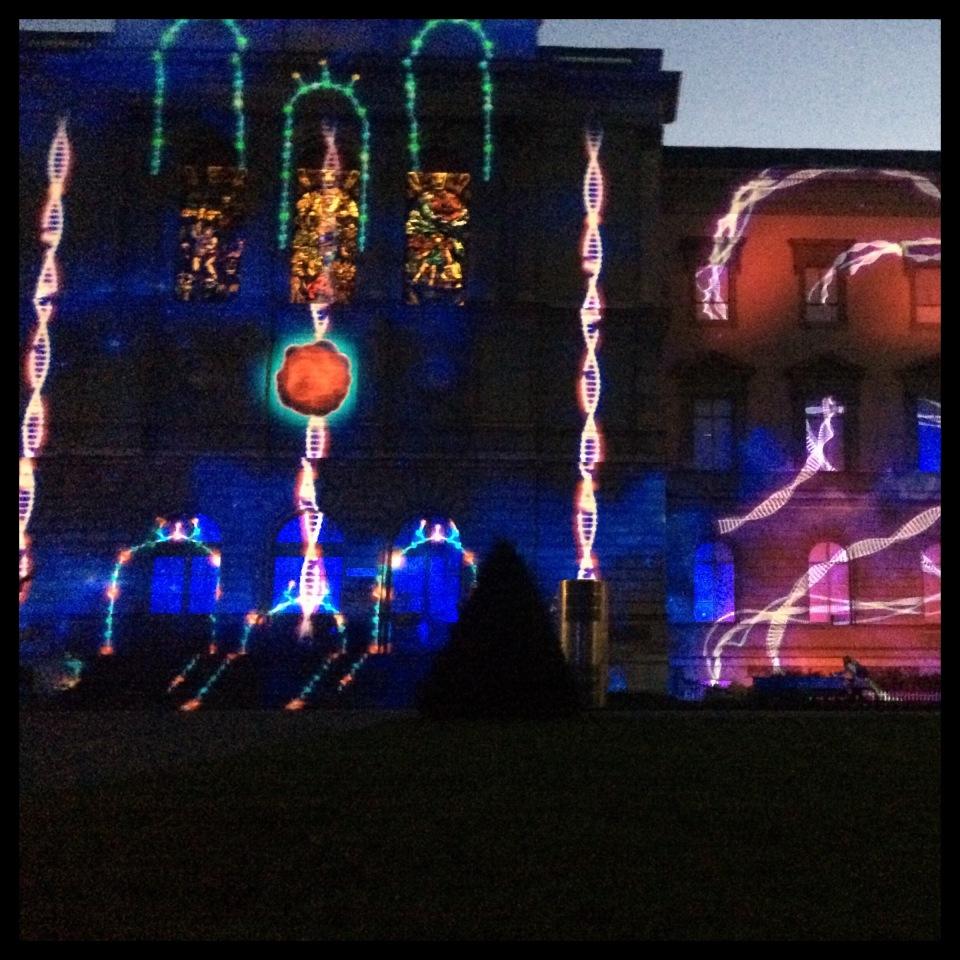 Parc des Bastions light show