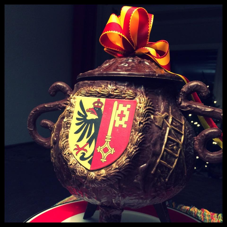Chocolate cauldron for Escalade