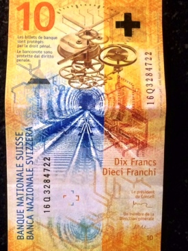 Ten franc bill