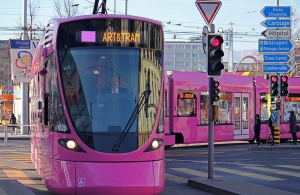 Geneva's Pink Tram